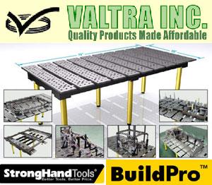 Valtra Inc. USA - сварочные монтажные столы сварщика, универсальные сборочные приспособления, сварочные магнитные уголки, эксцентриковые зажимы