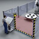 Определение попадания людей или посторонних предметов в опасную зону работы роботов при помощи лазерного сканера безопасности